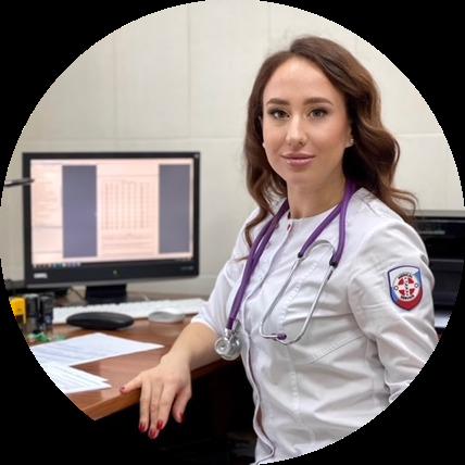 Калюжина Антонина Анатольевна,врач-терапевт; кардиолог; врач ЛФК; врач по УЗИ и функциональной диагностике