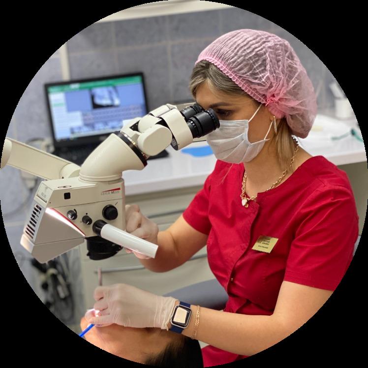Букина Наталья Юрьевна врач стоматолог-терапевт, сложная эндодонтия под микроскопом
